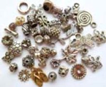 Mixed pack of Tibetan Silver beads & charms. 50.